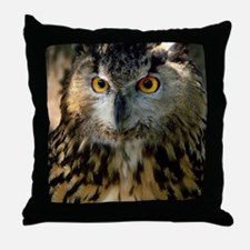 A Bengalese Eagle Owl Throw Pillow
