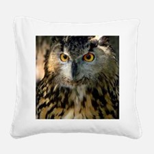A Bengalese Eagle Owl Square Canvas Pillow