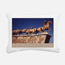 Plaza Monumental Tijuana Rectangular Canvas Pillow