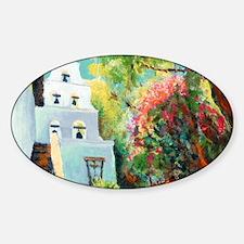 mission san Diego de alcala courtya Sticker (Oval)