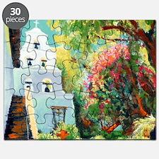 mission san Diego de alcala courtyard by ri Puzzle