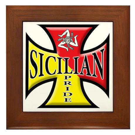 Sicilian Pride Framed Tile By Admin Cp1206385