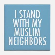 Stand with Muslims Tile Coaster