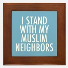 Stand with Muslims Framed Tile