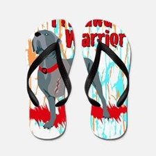 Tripawd Warrior Stadium Blanket Flip Flops