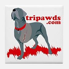 Tripawd Warrior Pocket T Tile Coaster