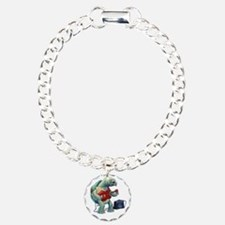 Turtle Tuning Guitar Charm Bracelet, One Charm