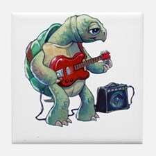 Turtle Tuning Guitar Tile Coaster