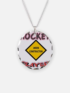 HOCKEY UNDER CONST WHITE Necklace
