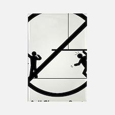 NoPhoneBlack Rectangle Magnet