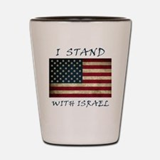I Stand with Israel - bltrs Shot Glass
