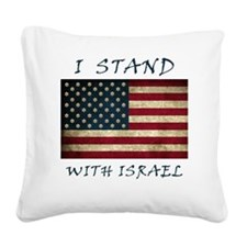 I Stand with Israel - bltrs Square Canvas Pillow