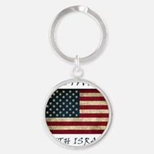 I Stand with Israel - bltrs Round Keychain