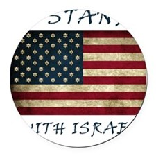 I Stand with Israel - bltrs Round Car Magnet