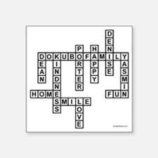 "DOKUBO 2 Square Sticker 3"" x 3"""