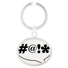 Comic Bubble Swearing Oval Keychain