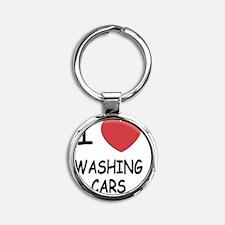 WASHING_CARS Round Keychain