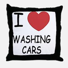 WASHING_CARS Throw Pillow