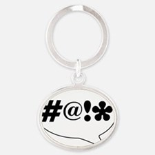 Comic Bubble Swearing Oval Keychain
