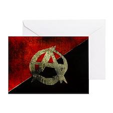 anarchy-symbol-flag Greeting Card