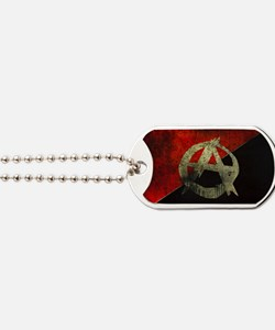 anarchy-symbol-flag Dog Tags
