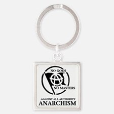 nogod_nomasters_anarchism.gif Square Keychain