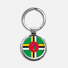 dominica Round Keychain