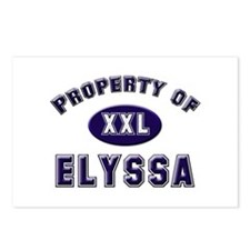 Property of elyssa Postcards (Package of 8)