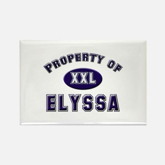 Property of elyssa Rectangle Magnet