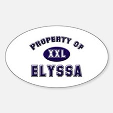 Property of elyssa Oval Decal