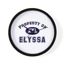 Property of elyssa Wall Clock