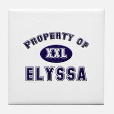 Property of elyssa Tile Coaster