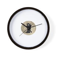 Ballroom Moon Dancers Wall Clock