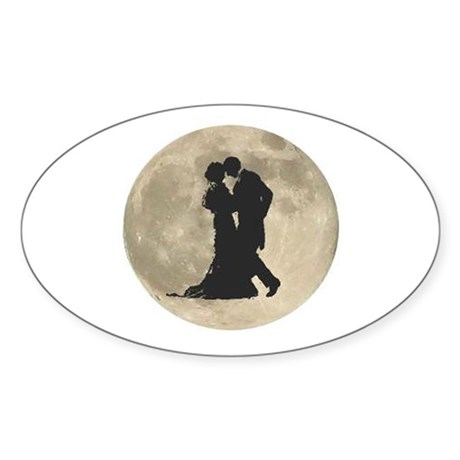 Ballroom Moon Dancers Sticker (Oval)