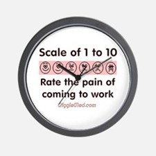 Pain of Work Wall Clock