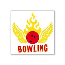 "Bowling Square Sticker 3"" x 3"""