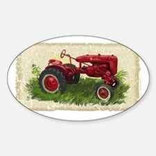 Old Tractor Sticker (Oval)