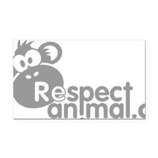 respect-animal-04 Rectangle Car Magnet