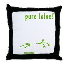 veg-pure-laine-fr-2-black Throw Pillow
