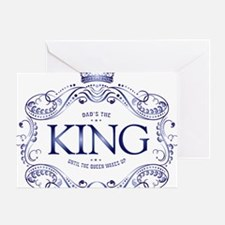 Dad is King Greeting Card