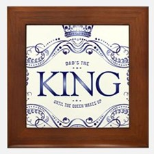 Dad is King Framed Tile