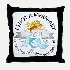 MermaidParade_TShirt_V5_7MB_X1A Throw Pillow