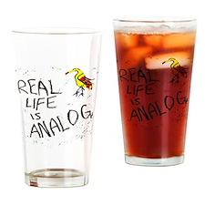 analog music fan Drinking Glass