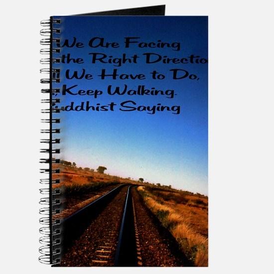 Keep walking 16x20 Journal