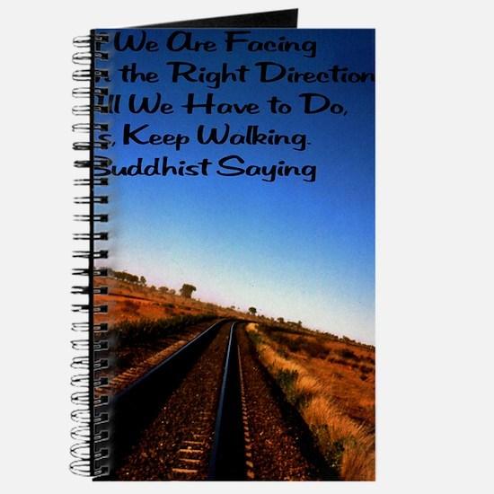 Keep walking 12x18 Journal