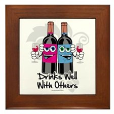 Drinks-Well-With-Others Framed Tile