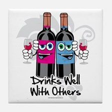 Drinks-Well-With-Others Tile Coaster