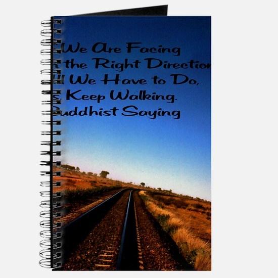 Keep walking 7.35x9.45 Journal