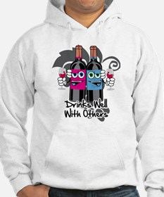 Drinks-Well-With-Others-blk Hoodie