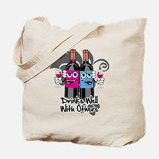 Drinks-Well-With-Others-blk Tote Bag